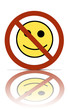 a no happiness symbol
