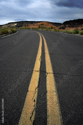 Road on the Snow Canyon in St. George, Utah