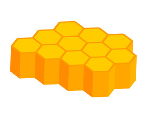 orange and yellow 3d honeycomb background