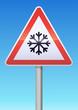 Panneau de danger neige