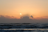 Sunrise over ocean, Padre Island, southern Texas, USA poster