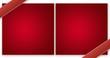 Carte rouge de voeux format lettre