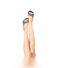 slim sexy legs in water