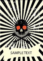 vector skull poster