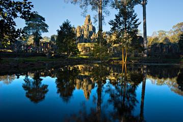 Bayon Tower , Angkor Thom, Siem Reap, Cambodia.