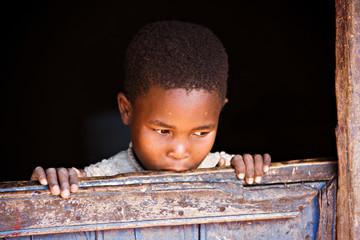 Portrait of poor African child, Botswana