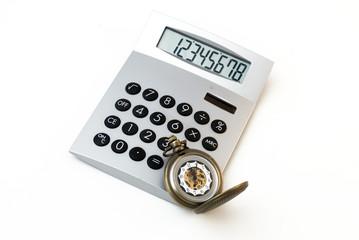 calcolatrice con orologio da taschino