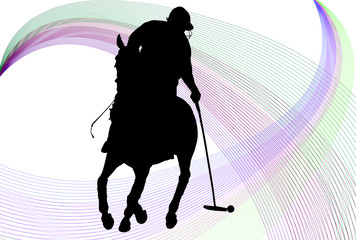 Polo Player Background