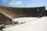 Restored Roman theater of Caesarea, Israel