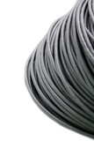 Hank of a grey network cable on a white background poster