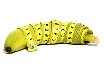 Banan with measure tape