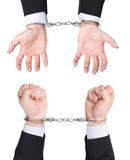 enchaîner menotte prison libre illégal attacher police peur faut poster