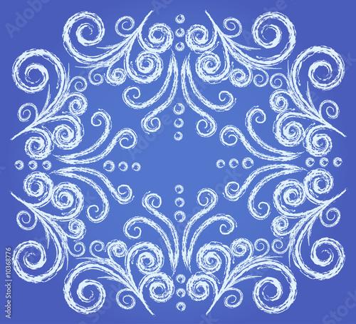 Leinwandbild Motiv Abstract frozen window pattern, element for winter design