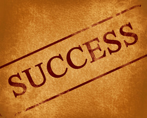 success stamp on an old paper background