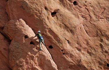 Rock Climber in Action