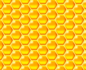 a glossy vector illustration of golden coloured honeycomb