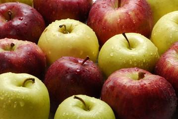 frescas manzanas.