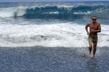 courir dans l'eau 2