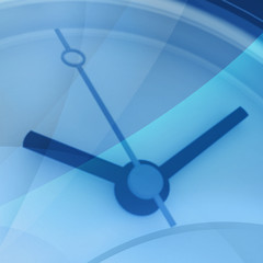 Time - blurry background of blue color