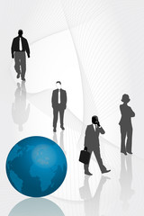 Business people and the world