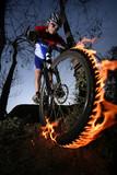 Fototapety mountain biker