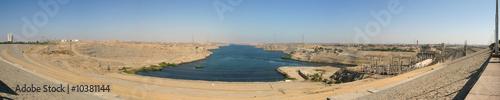 Fotobehang Dam panorama du barrage d'Assouan en Egypte