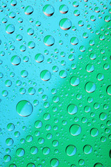 waterdrop bacground on blue and green color
