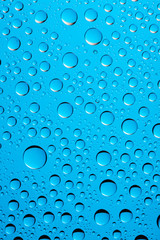 waterdrop bacground on blue color