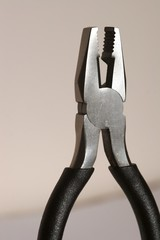 snub nosed pliers with handles, jaws open