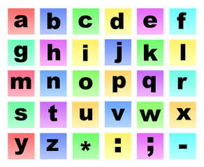 Colour letters non capitals