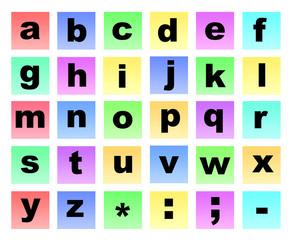 Colour letters non capitals