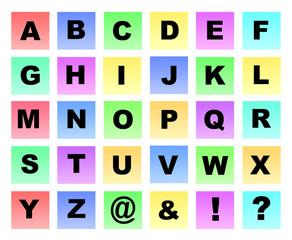 Colour letters capitals
