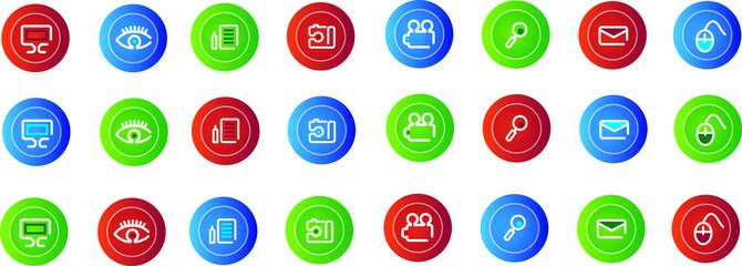 Set of many icon