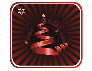 arbol de navidad en vector