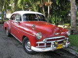 Old car in the streets of Havanna Cuba-