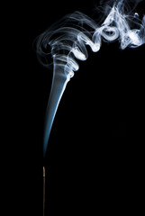 abstract figure from smoke on the isolated background