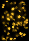 Abstract bokeh stars poster