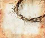 Crown of thorns on a grunge background.