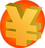 Japanese yen Currency symbol isometric illustration 3d poster