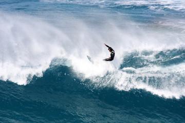 Tow in Surfen Fuerte