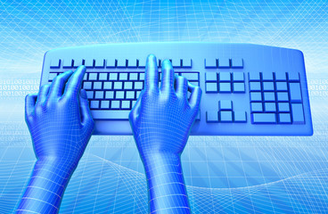Robot Keyboard with Clipping path