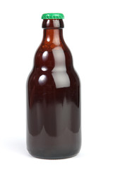 Isolated glass bottle on white