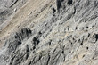 Rocks in Austrian Alps - background texture. Abstract pattern.
