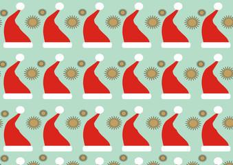 christmas card. papa noel en navidad