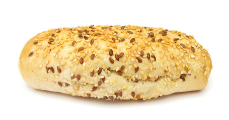 Bread healthy with flax seeds and sesame