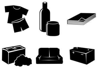 Symboles des types de déchets (détouré)