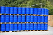 stock de barils bleus
