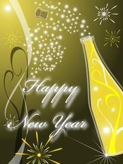 Biglietto di auguri per un felice anno nuovo