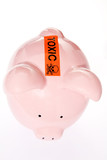 Piggy Bank With Toxic Warning Over Slot poster