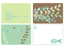 Four fish designs